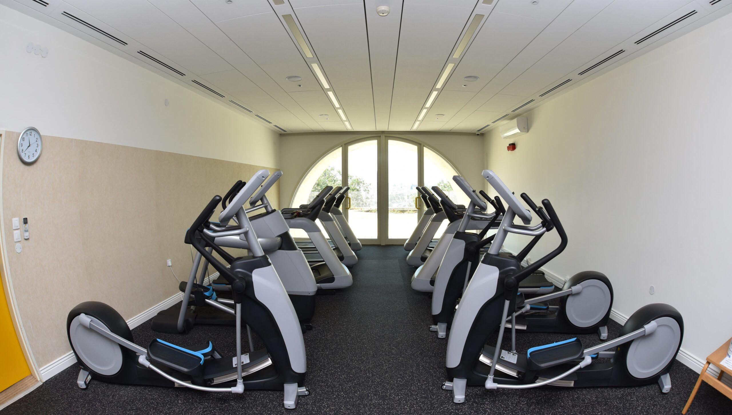 New workout space. Photograph by Mark Philbrick. Courtesy BYU Jerusalem Center.