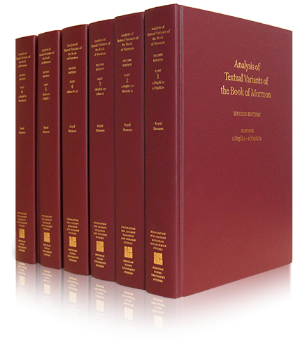 Book of Mormon Critical Text Project Volume IV: Analysis of Textual Variants of the Book of Mormon